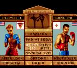 Best of the Best Championship Karate Genesis Main menu