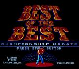 Best of the Best Championship Karate Genesis Title screen (US version)