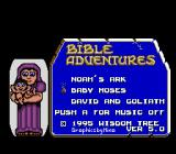 Bible Adventures Genesis Title screen