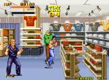 Burning Fight Neo Geo Exploring a clothing store