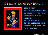Ninja Commando Neo Geo One of the character profiles