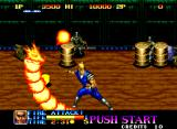 Ninja Commando Neo Geo Using the fire attack