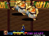 Ninja Commando Neo Geo Two giant Sumos looking for trouble