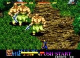 Ninja Commando Neo Geo Three giant warriors with sharp shiny swords