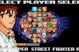Street Fighter Alpha 3 Game Boy Advance Select your character!
