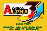 Street Fighter Alpha 3 Game Boy Advance Title screen.