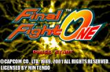 Final Fight Game Boy Advance Title screen.