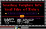 Smashing Pumpkins into Small Piles of Putrid Debris DOS Title screen