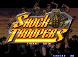 Shock Troopers Arcade Title