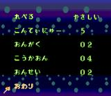 Bishōjo Senshi Sailor Moon R SNES Options menu