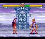 Bishōjo Senshi Sailor Moon Super S: Zenin Sanka!! Shuyaku Sōdatsusen SNES the girls look uncertain whether they have to fight each other...