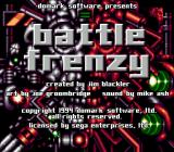 Battle Frenzy Genesis Title screen
