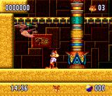 Bubsy II SNES Starting an Egyptian level