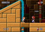 Bubsy II Genesis Waterfall and a mean guy