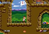 Bubsy II Genesis On a wall