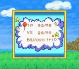 Balloon Kid Game Boy Color Main menu