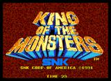 King of the Monsters Neo Geo Title
