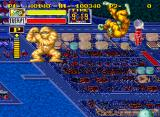 King of the Monsters Neo Geo Mr. Mummy shows how much muscle he has