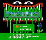 Monster Party NES Title screen