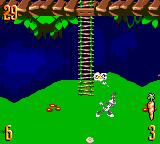 Bugs Bunny in Double Trouble Game Gear Thinking...
