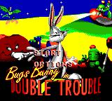 Bugs Bunny in Double Trouble Game Gear Title screen