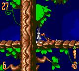 Bugs Bunny in Double Trouble Game Gear Running away