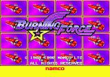 Burning Force Genesis Title screen
