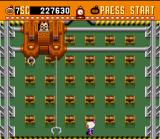Super Bomberman SNES This boss uses long-distance claws to attack.