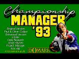 Championship Manager 93 Amiga Title Screen