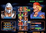 Double Dragon Neo Geo Character selection screen