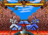 Double Dragon Neo Geo Amon fighting his alter ego on top of a flying plane.