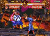 Double Dragon Neo Geo Burnov's playground is a city on fire.