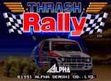 Thrash Rally Neo Geo Title screen
