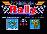 Thrash Rally Neo Geo Race selection screen