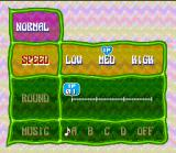 Tetris 2 SNES Customize your options for the Normal Mode: speed, round... and the B music.