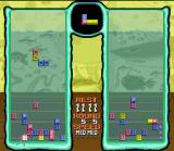 Tetris 2 SNES Doing a chain reaction makes the blocks drop faster. You must do this more than your adversary or else...