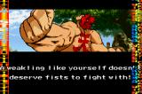 Street Fighter Alpha 3 Game Boy Advance After the fight, your fighter say some words...