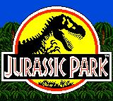 Jurassic Park Game Gear Title screen
