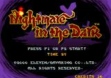 Nightmare in the Dark Arcade Title