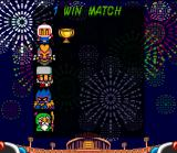 Super Bomberman 3 SNES Battle Mode scoreboard. Win a trophy for each point earned!