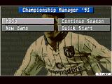Championship Manager 93 Amiga Start menu