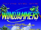 Windjammers Neo Geo Title screen