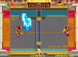 Windjammers Neo Geo A tricky shot from Wessel