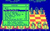 The Chessmaster 2000 DOS The main options menu.  Almost every submenu has as many choices