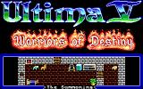 Ultima V: Warriors of Destiny DOS Title screen (Introduction)