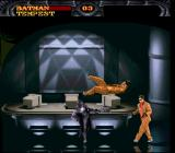 Batman Forever SNES Batman beating up some surprisingly well-dressed thugs