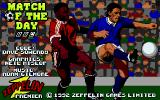 Match of the Day Atari ST Title Screen with Credits