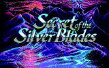 Secret of the Silver Blades DOS Title screen #2 (Main title)