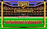TV Sports: Football DOS Title screen