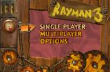 Rayman 3 Game Boy Advance The menu screen is very simple and no needs comment.